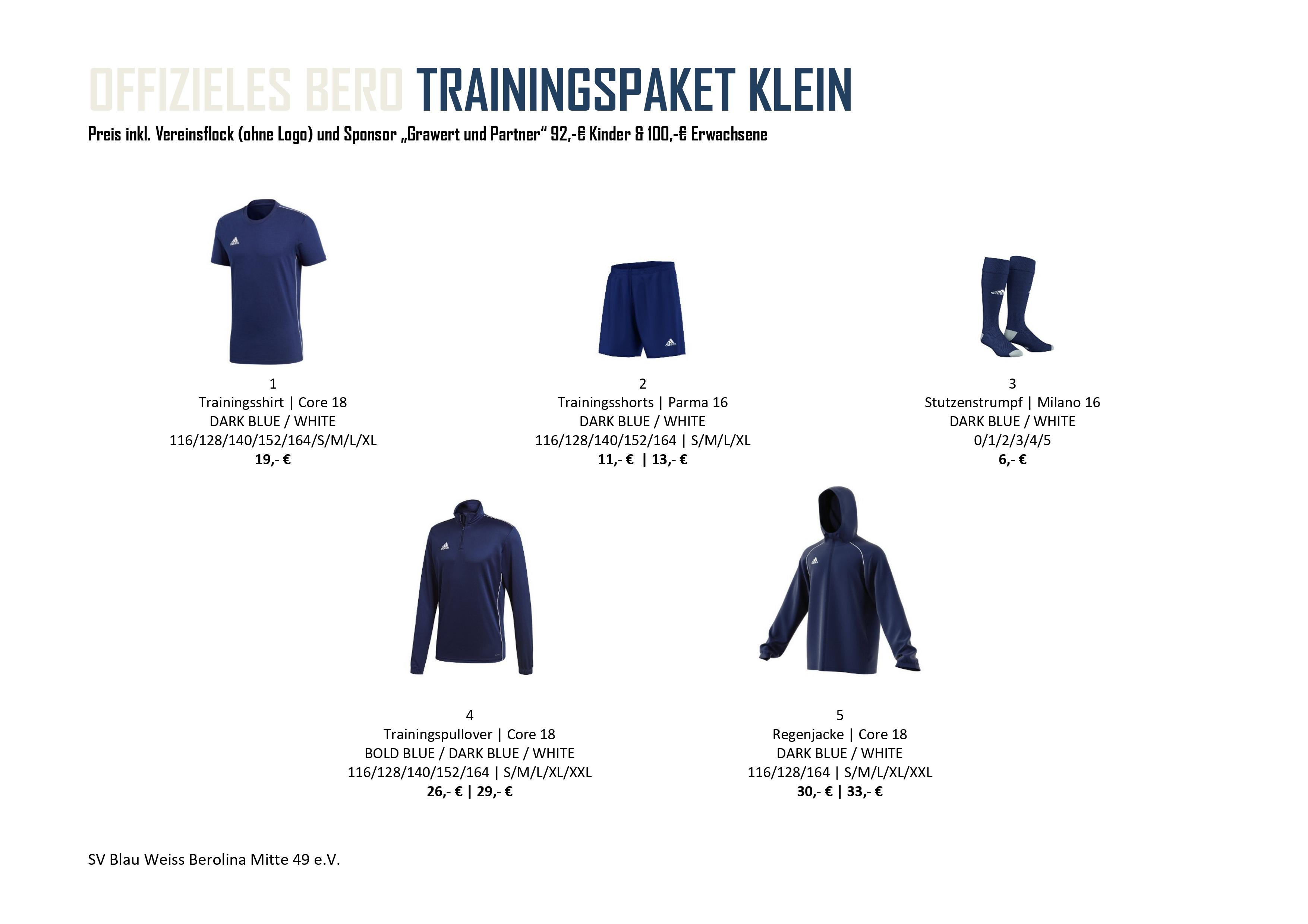 Trainingspaket Klein