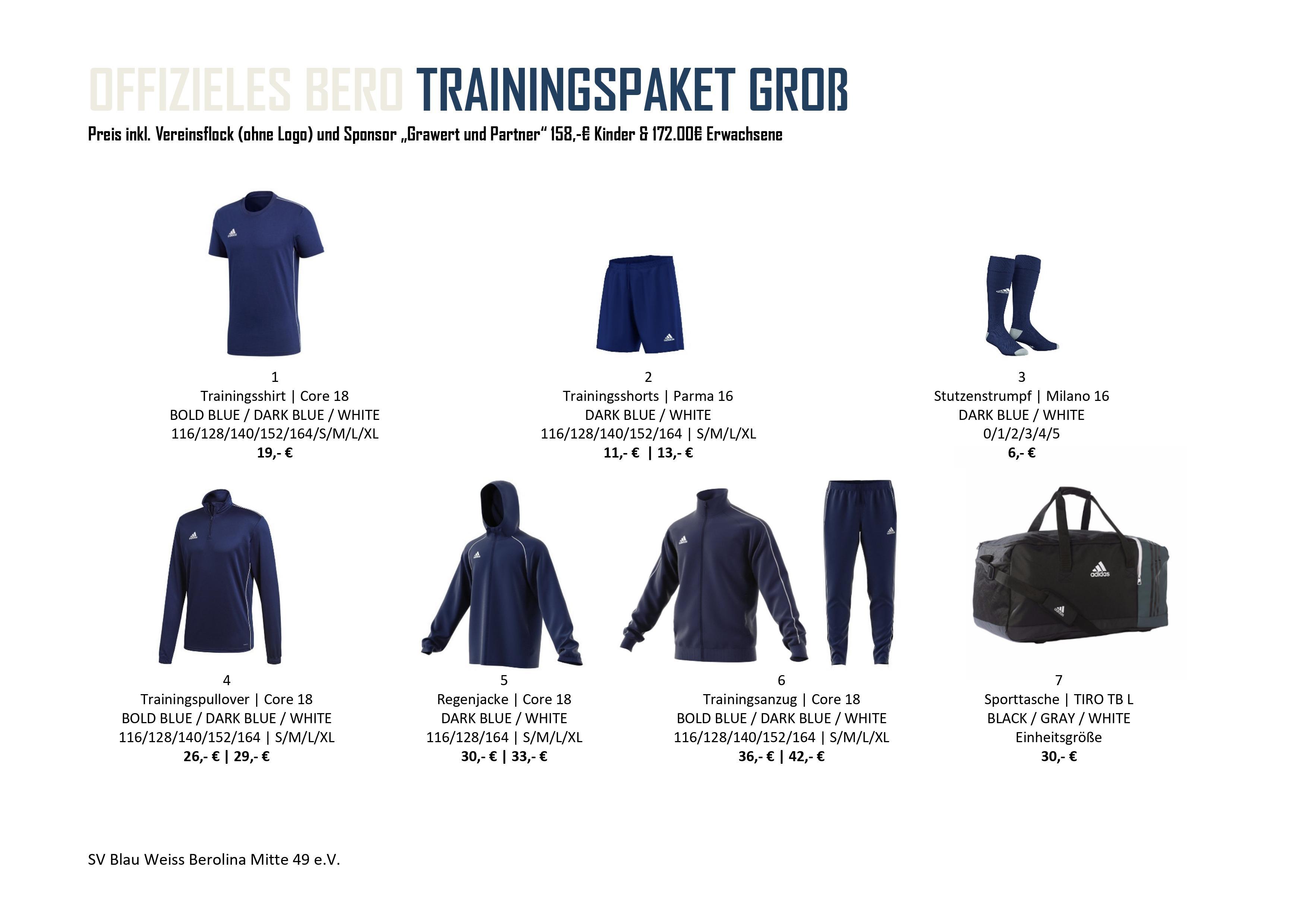 Trainingspaket Groä